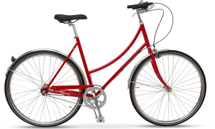 Style Skovcykel Rød 3 Gear Dame