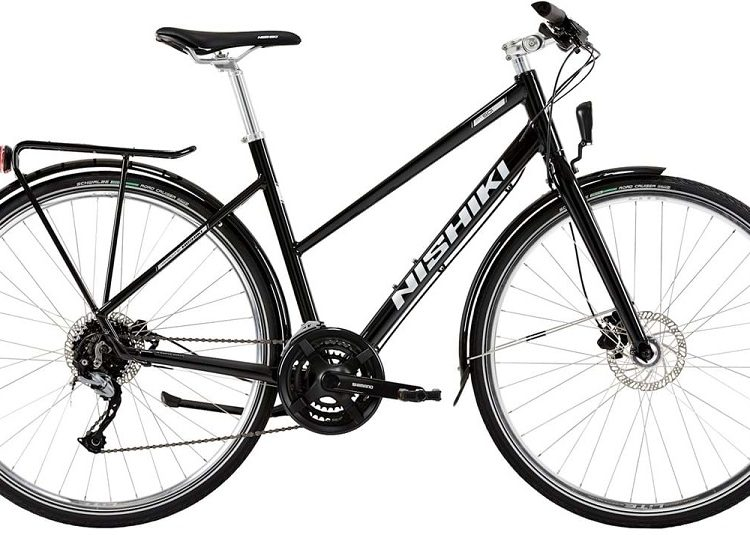 Nishiki City 501 Dame 24sp Hydr. disc 18in Sort m. sølv