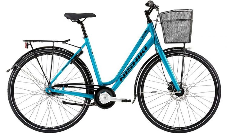 Nishiki City 207 Dame 7sp Fod/Hydr. disc 21in Turkis m. sort