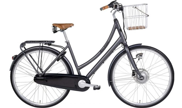 Raleigh Essex Elcykel Dame 7 Gear Mat Grå