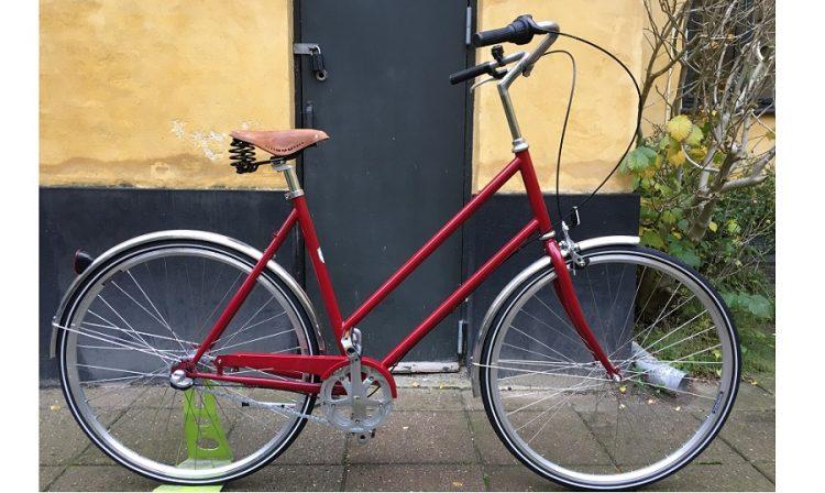 Nunu's letvægtscykel dame Rød med brooks sadl