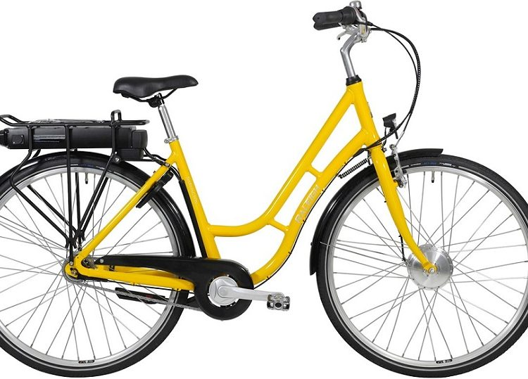 Raleigh Darlington ELcykel 5 LED GUL